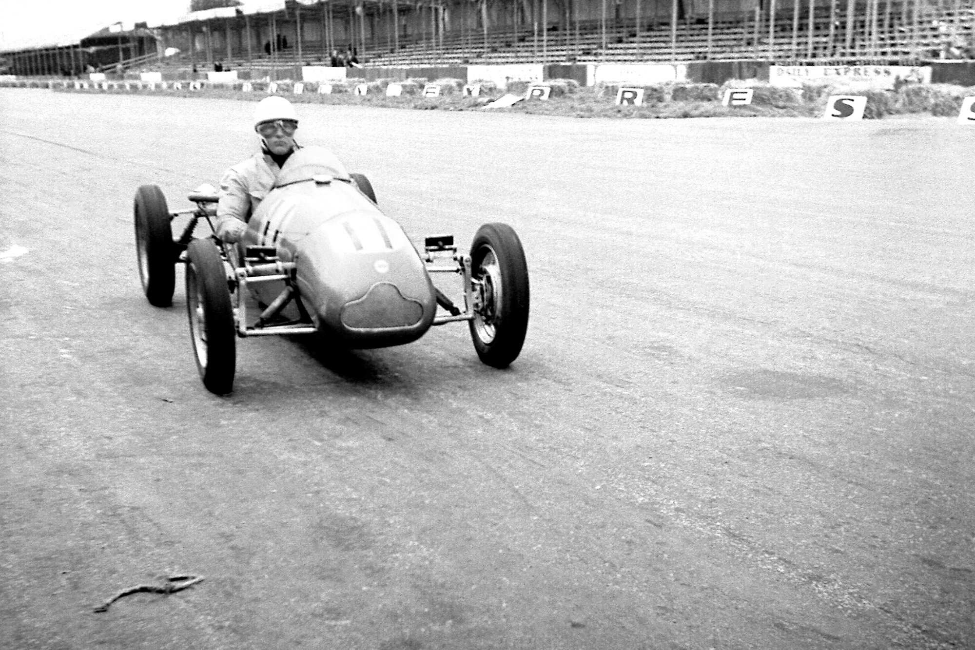 Stirling Moss in a Cooper 500 at Silverstone in 1953