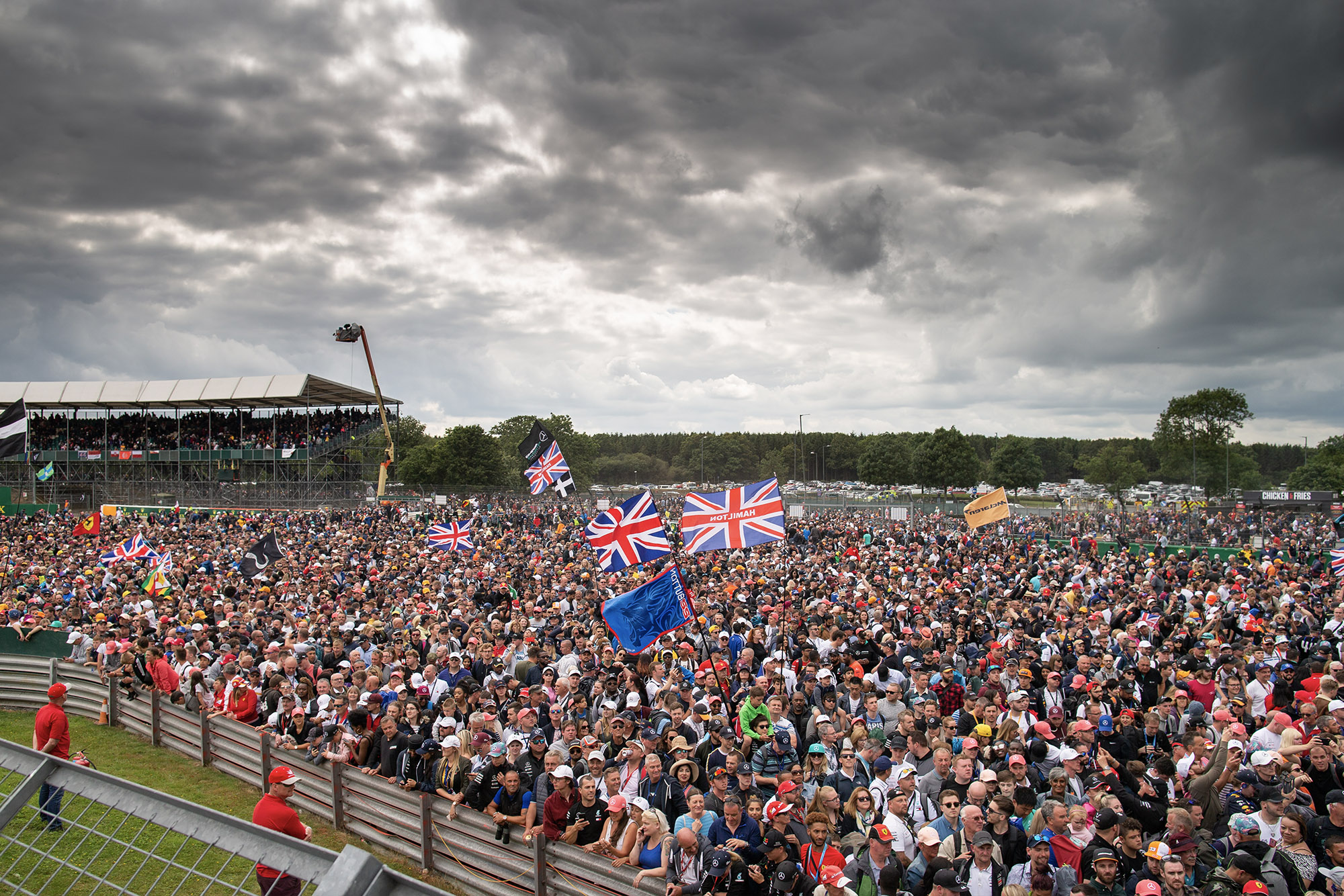 Crowd at Silverstone after the 2020 British Grand Prix