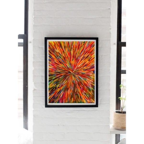 racing corner less 2 abstract art wall hanging painting