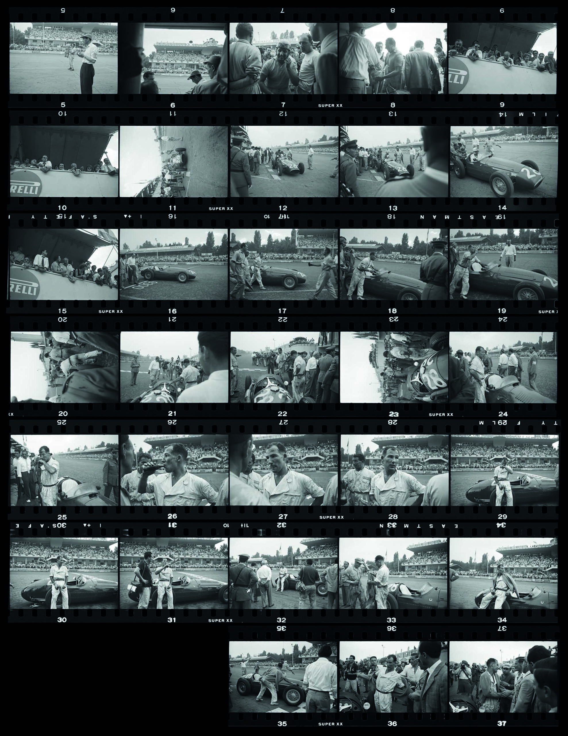 Frames-of-Stirling-Moss-during-the-1954-Italian-Grand-Prix-weekend at Monza