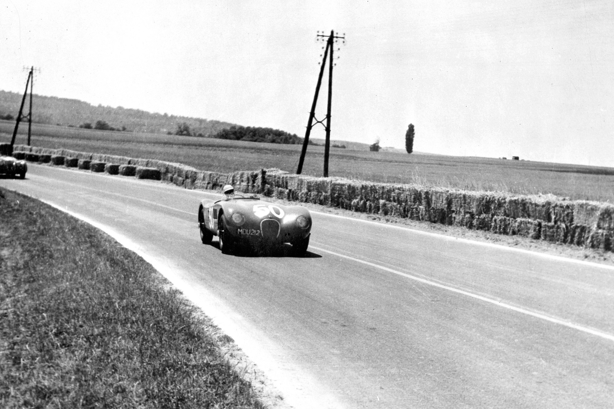 Stirling Moss during the 1952 Reims Grand Prix