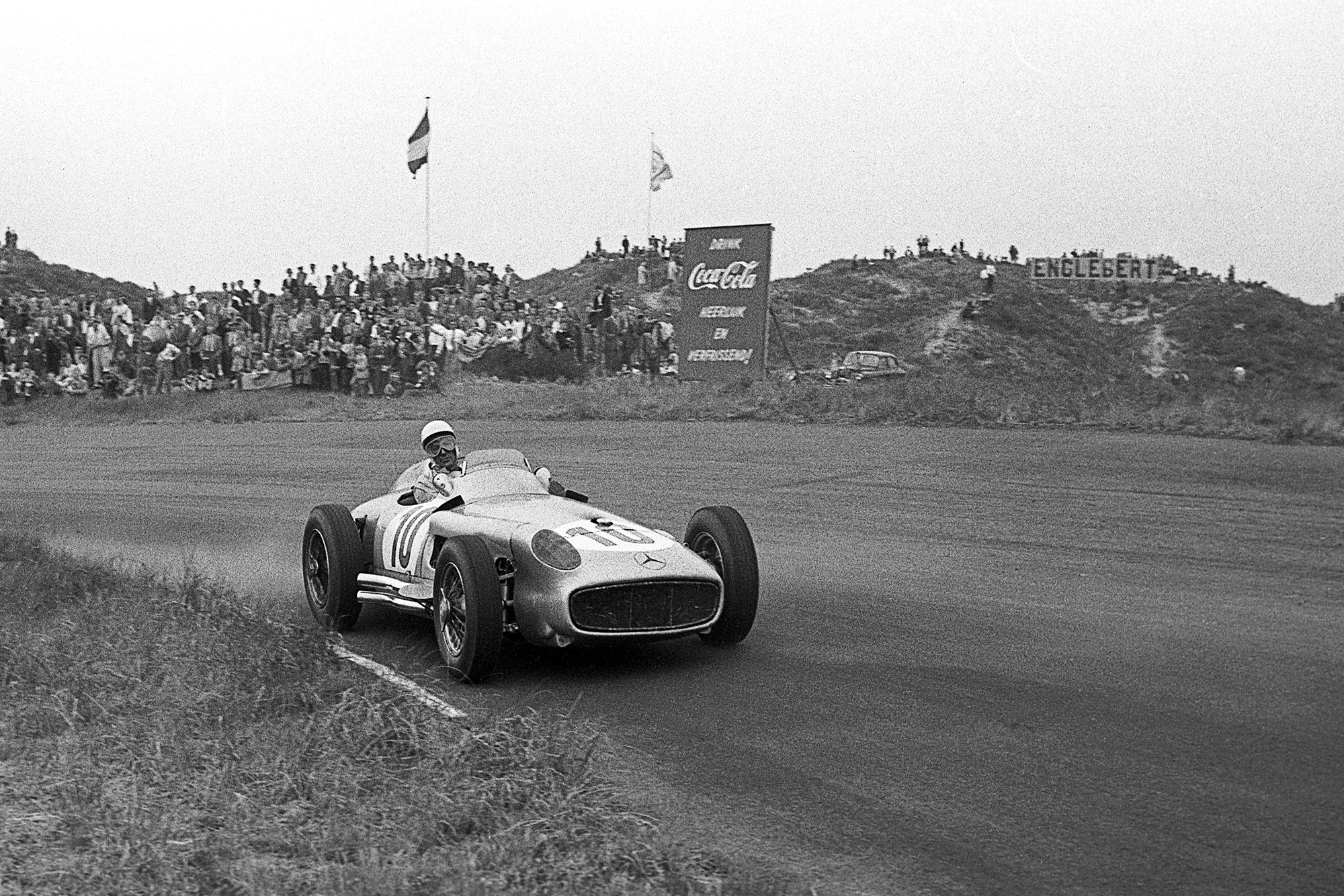 Stirling Moss during the 1955 Dutch Grand Prix