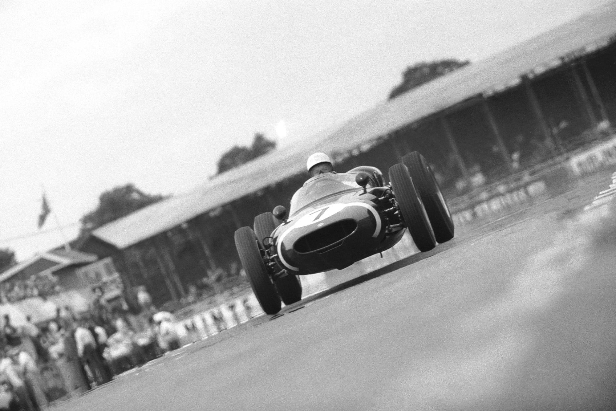 Stirling Moss in the 1961 British Grand Prix