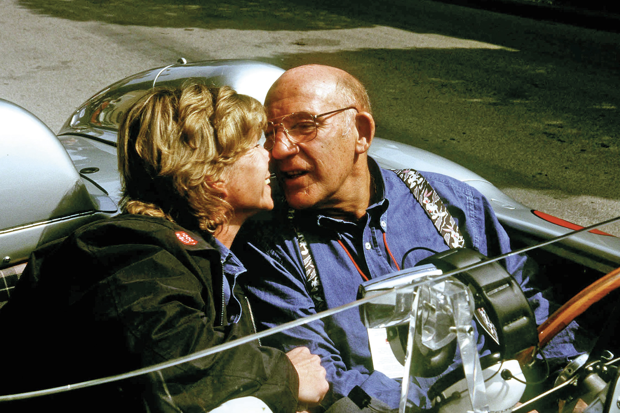 Stirling Moss with Susie Moss