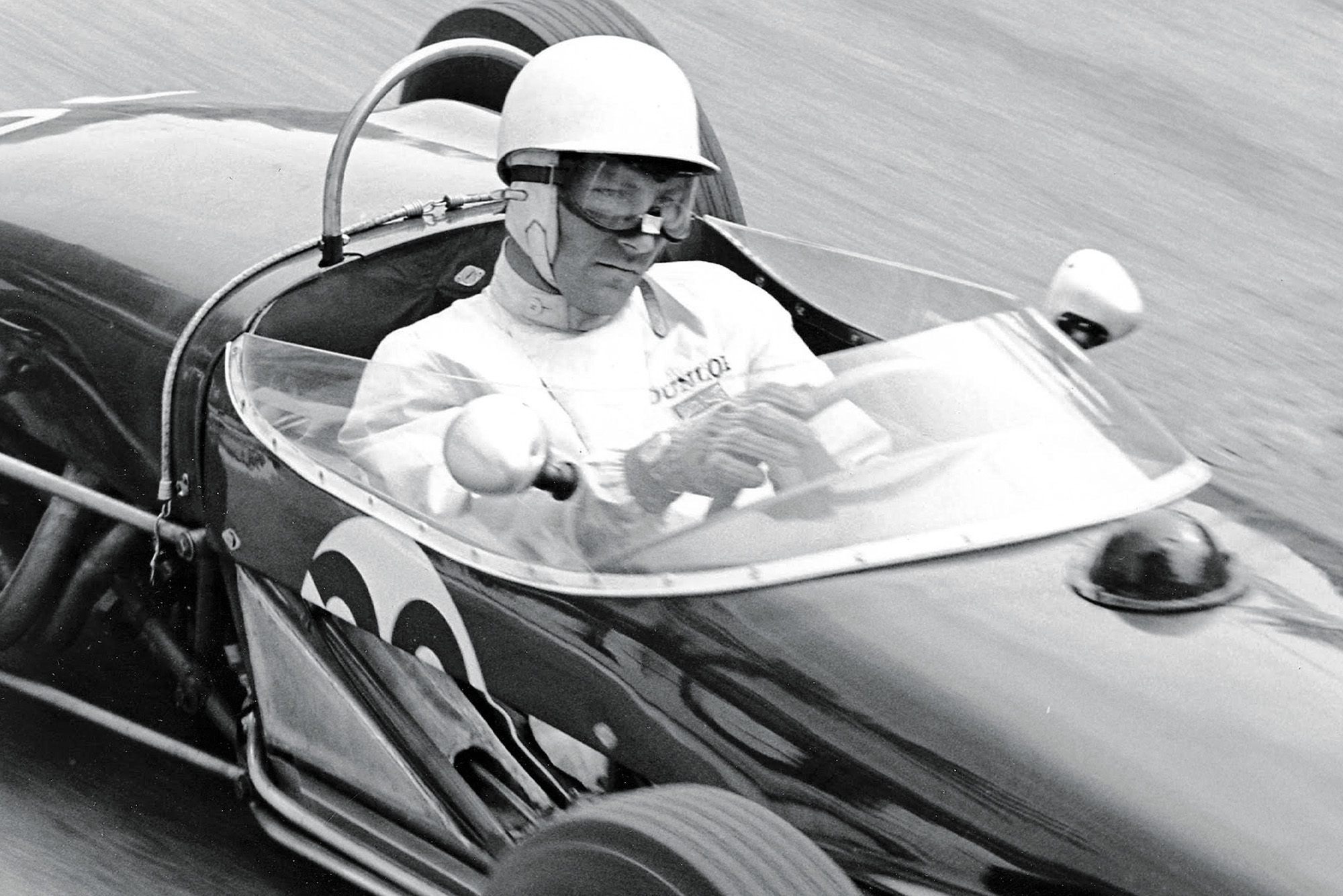 Stirling Moss close up during the 1961 Monaco Grand Prix