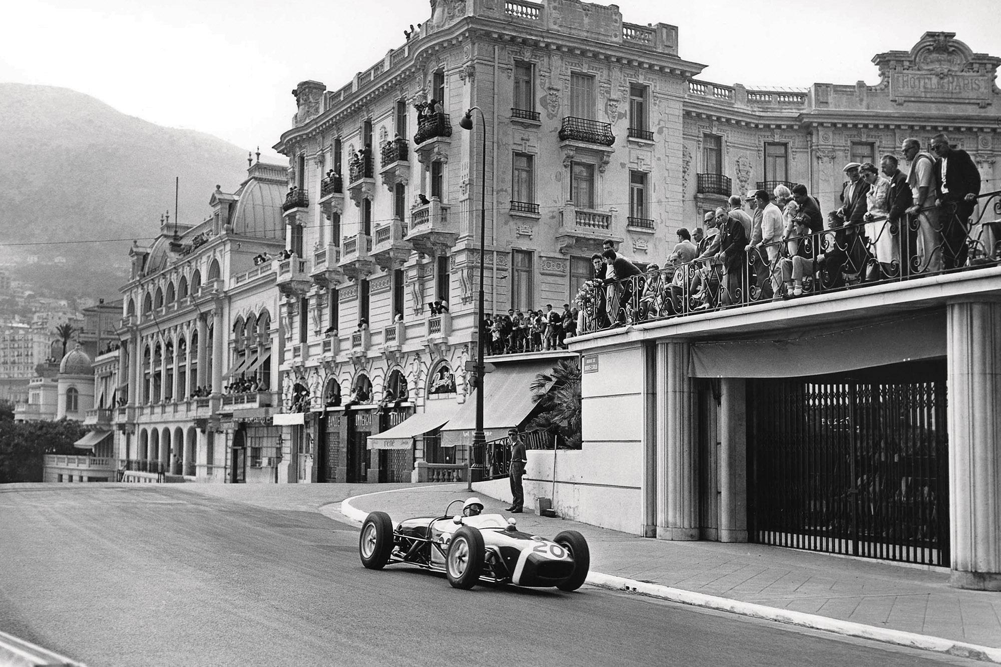 Stirling Moss in the 1961 Monaco Grand Prix