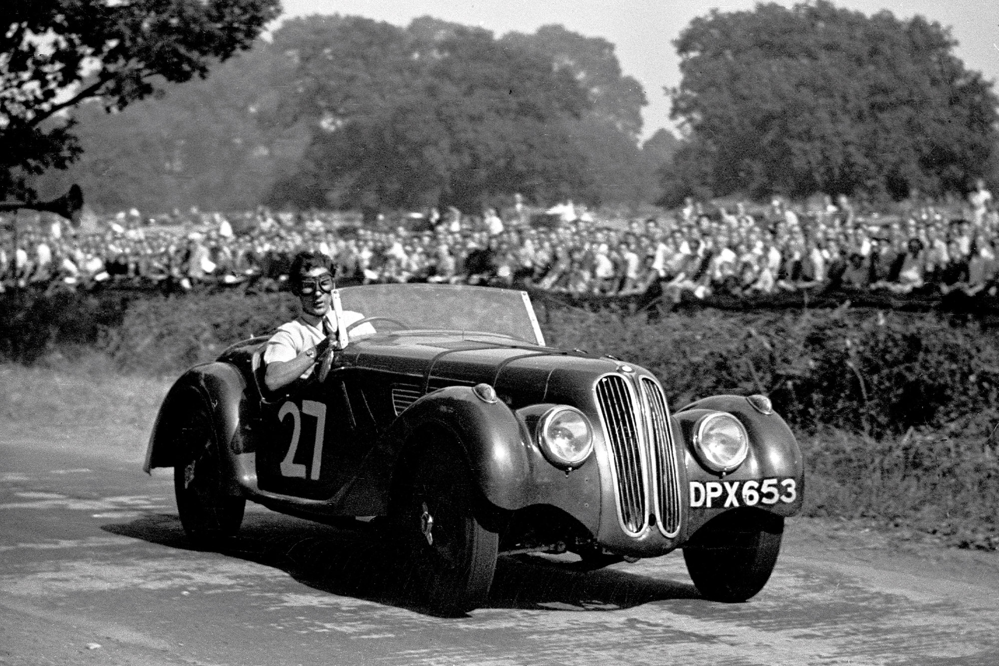 Stirling Moss driving his fathers Frazer-Nash BMW in the 1947 poole Speed Trials