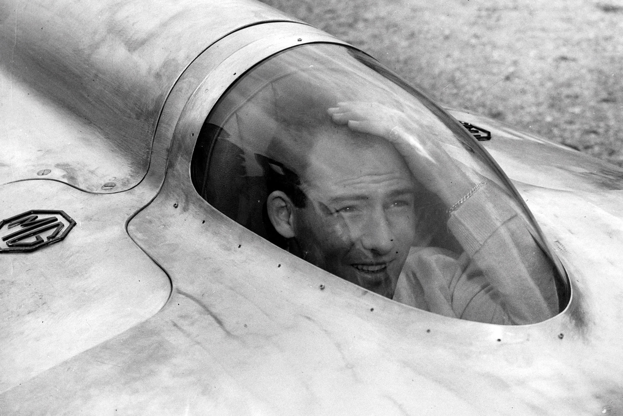 Stirling Moss in the MG EX181 on the Bonneville Salt Flats