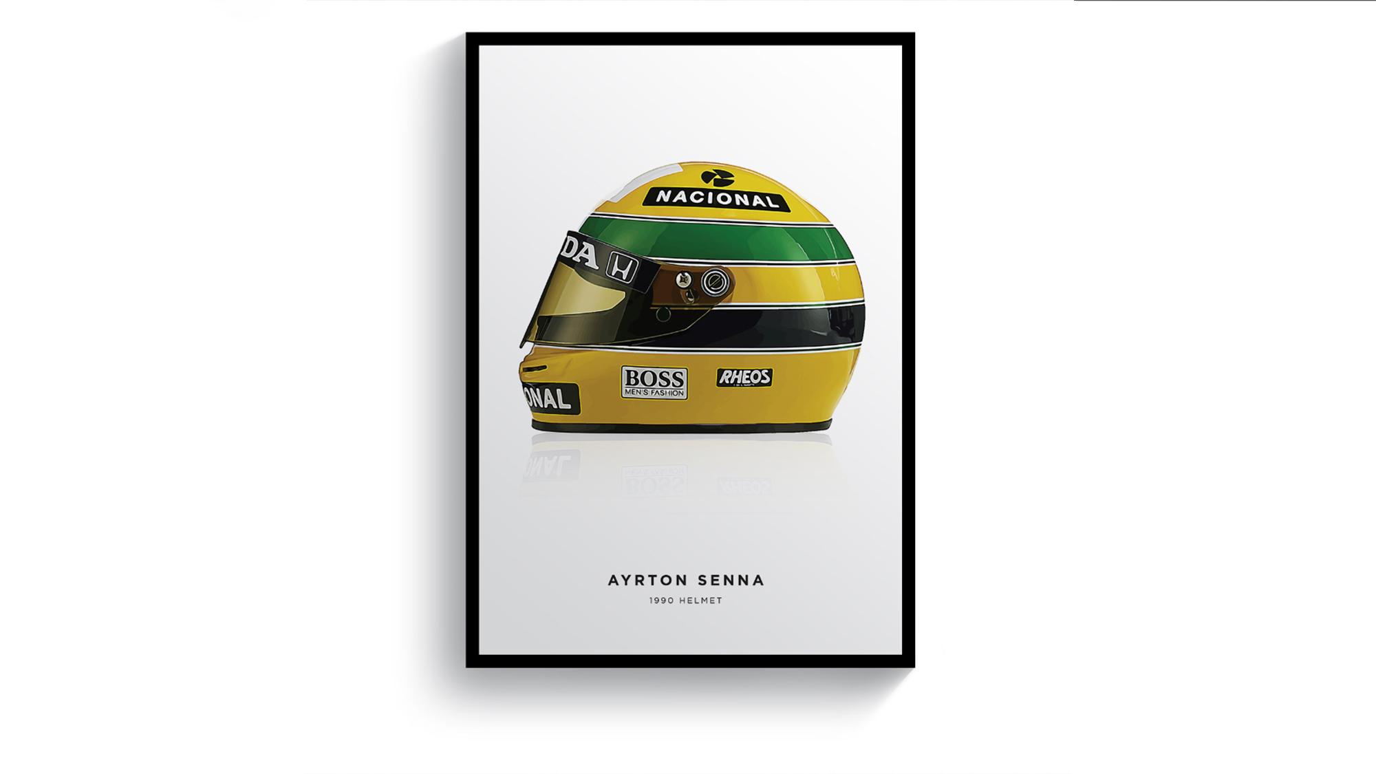 Senna helmet pitlane prints