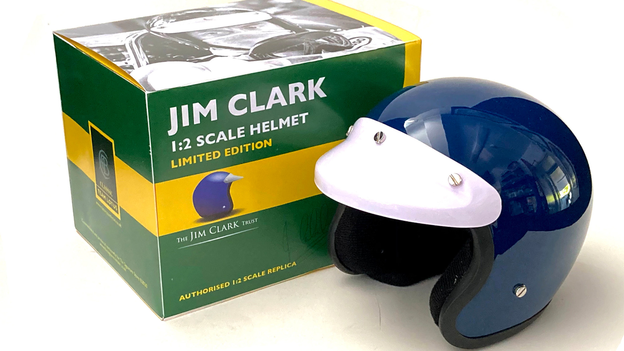 Jim Clark replica helmet