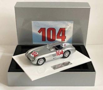 Product image for Stirling Moss - Mercedes 300 SLR - 1955 Targa Florio | signed Stirling Moss | 1:18 scale