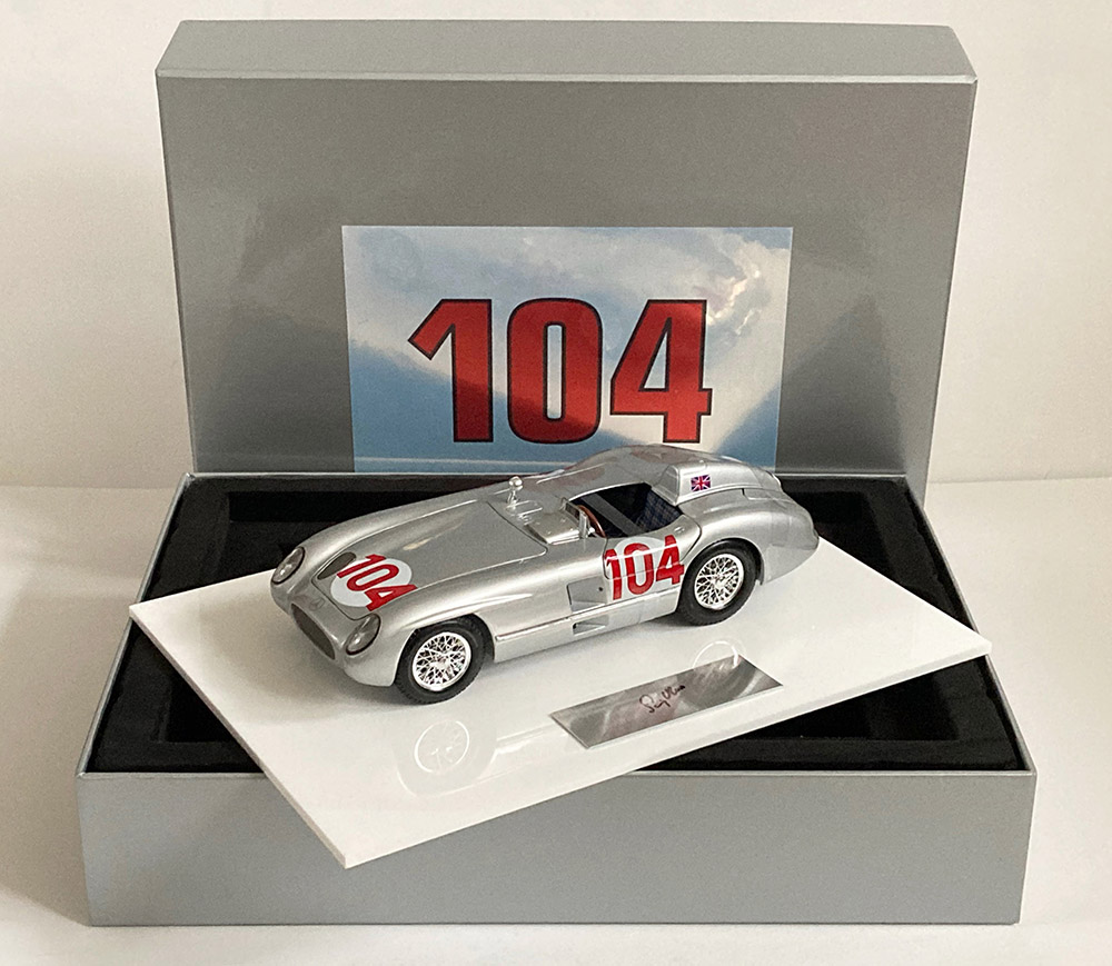 Product image for Stirling Moss - Mercedes 300 SLR - 1955 Targa Florio | signed Stirling Moss | 1:18 scale