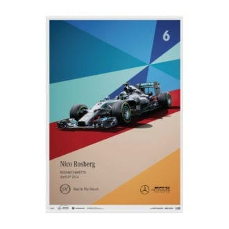 Product image for Nico Rosberg - Mercedes - 2014   Automobilist   Limited Edition poster