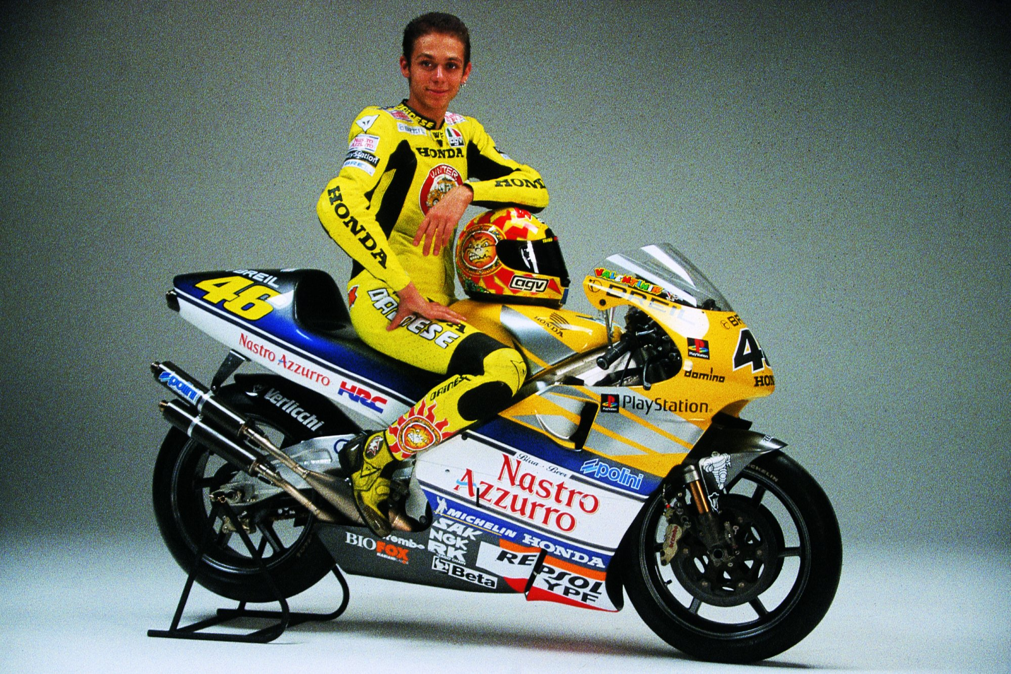 Valentino Rossi at Honda in 2001