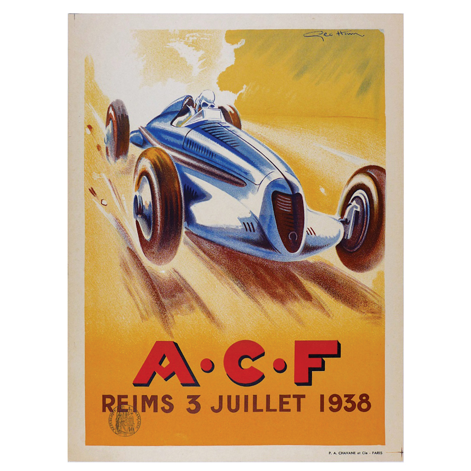1938 Reims poster