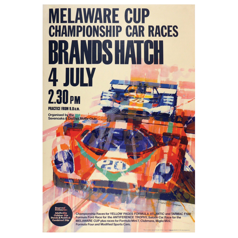 Brands Hatch Melaware Cup poster