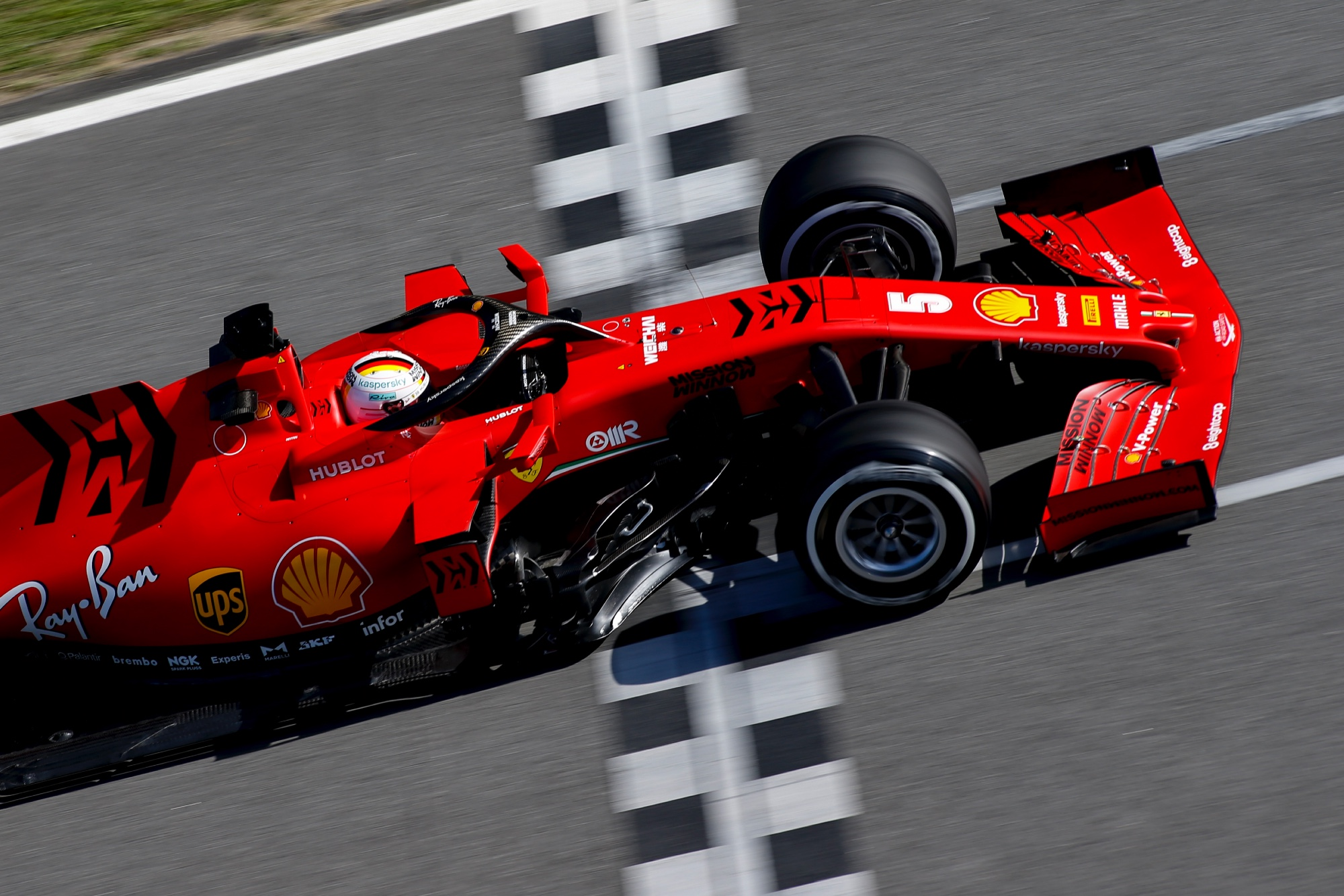 Sebastian Vettel during F1 2020 testing