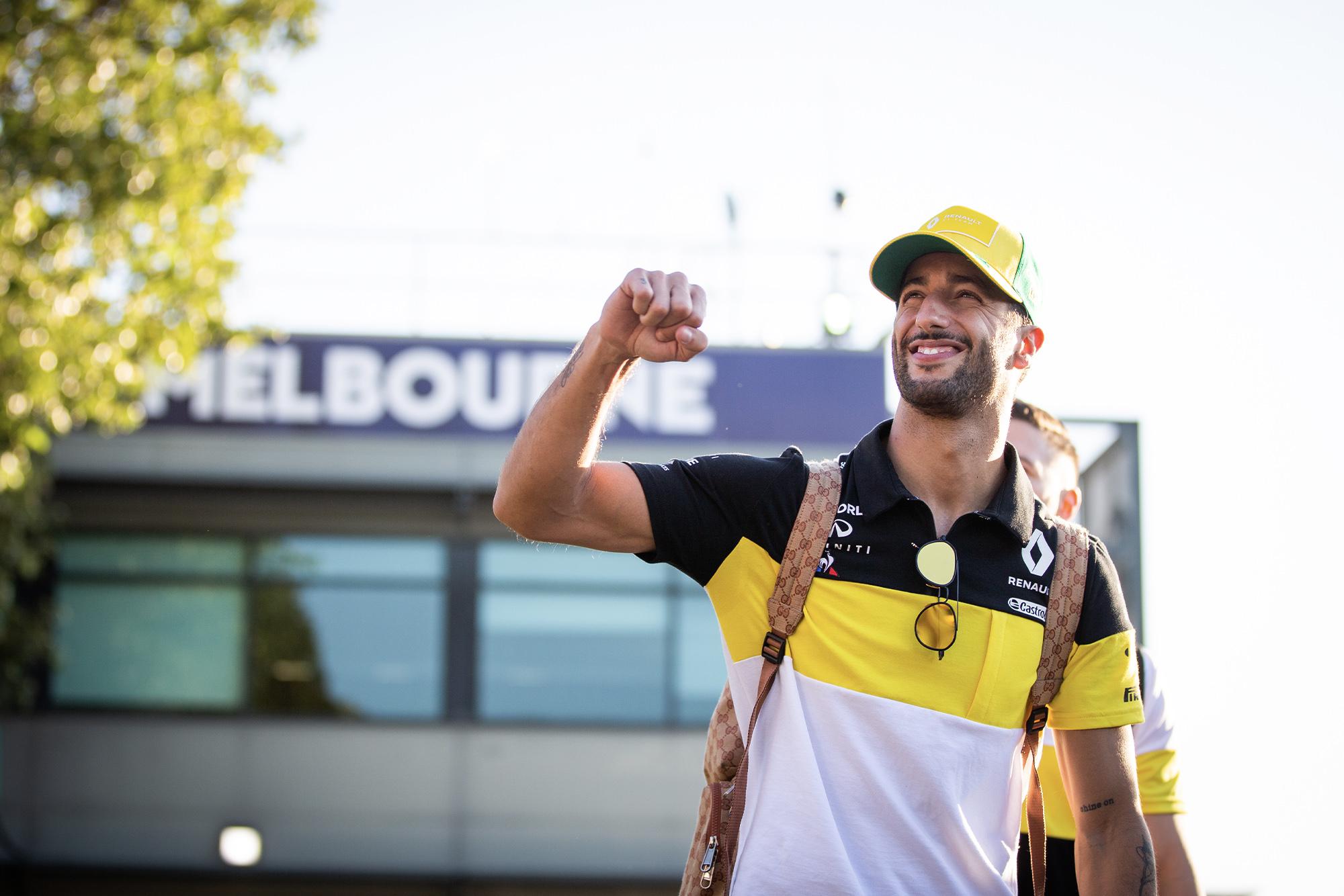Daniel Ricciardo in Melbourne ahead of the planned 2020 Australian Grand Prix