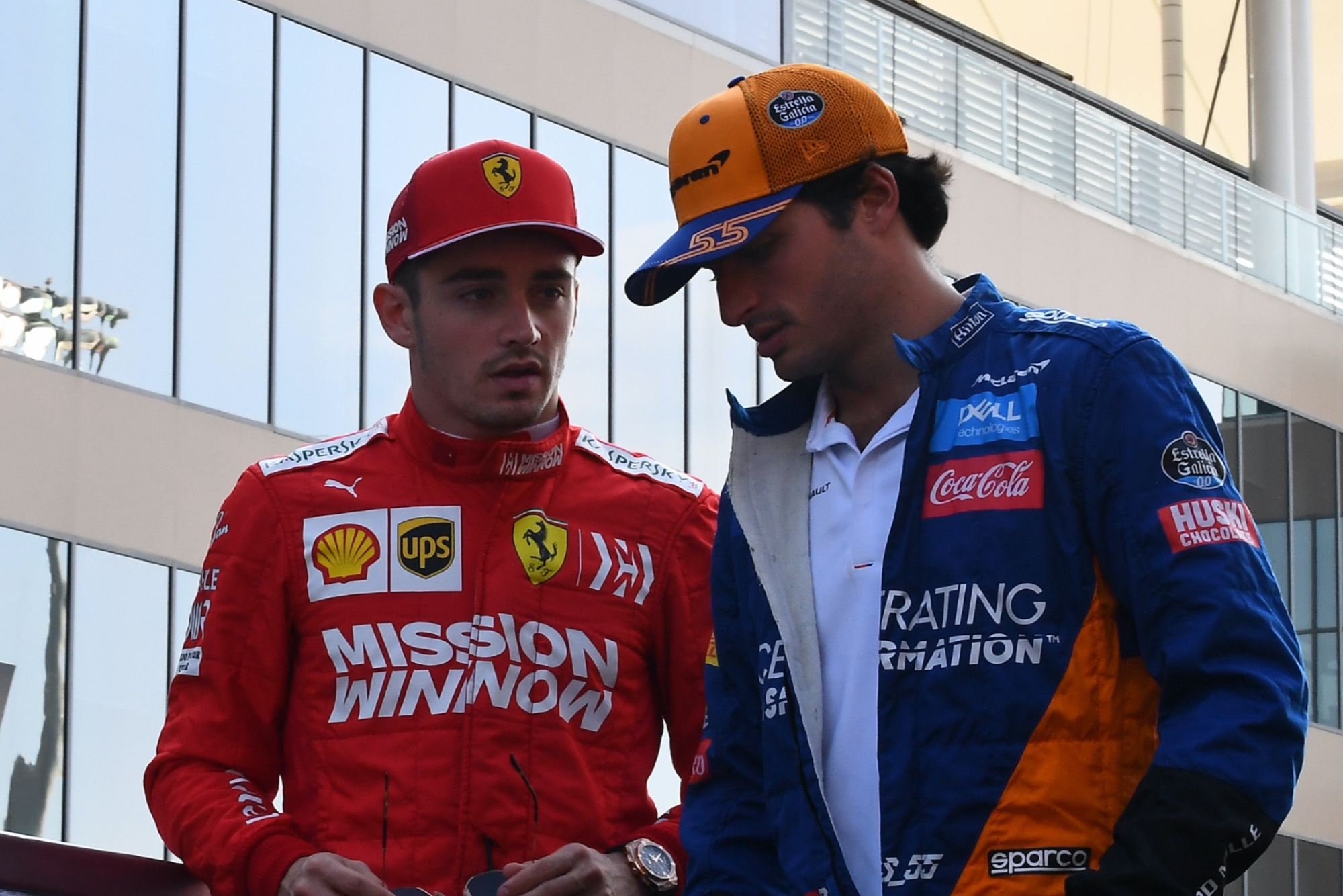 Charles Leclerc and Carlos Sainz, Abu Dhabi 2019