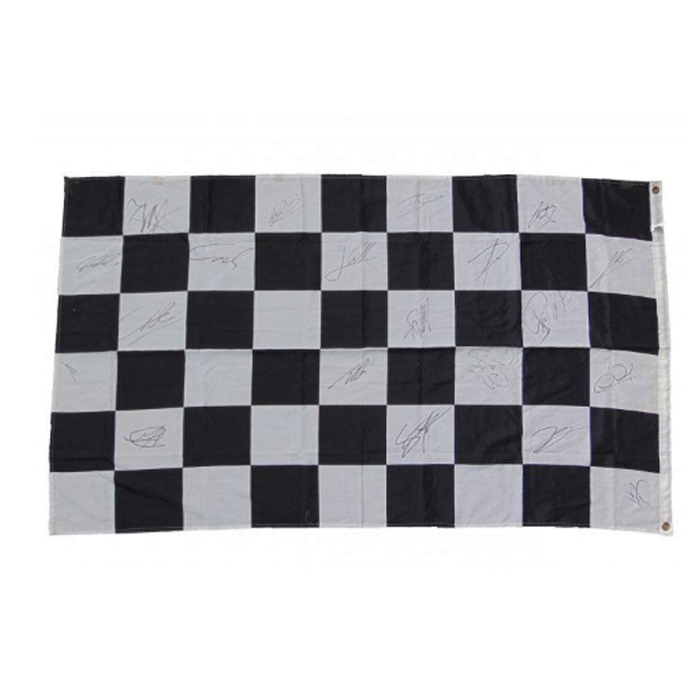 Product image for Formula 1 Race Flag – 2011 | memorabilia | signed 2011 F1 championship drivers