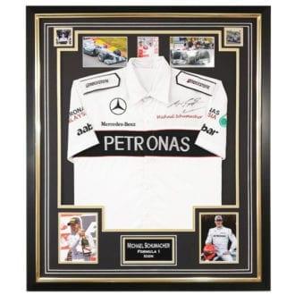 Product image for Michael Schumacher – F1 World Champion – framed shirt | memorabilia | signed Michael Schumacher