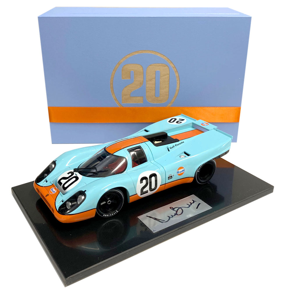 Product image for Steve McQueen – Porsche 917K – 1970 | model | signed Derek Bell | 1:18 scale