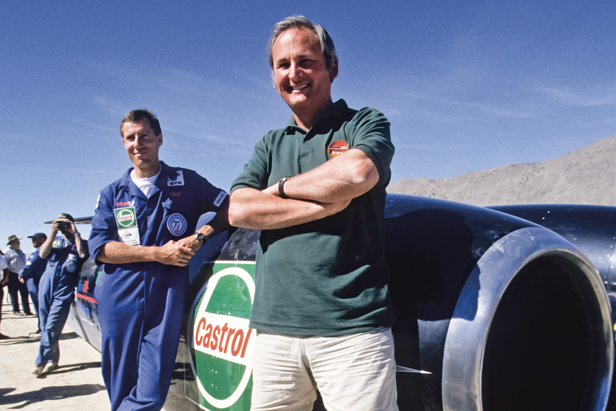 Richard Noble and Andy Green with Thrust SSC