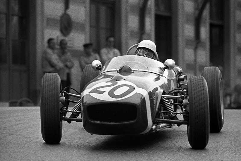 Stirling Moss Lotus 18 Monaco 1961