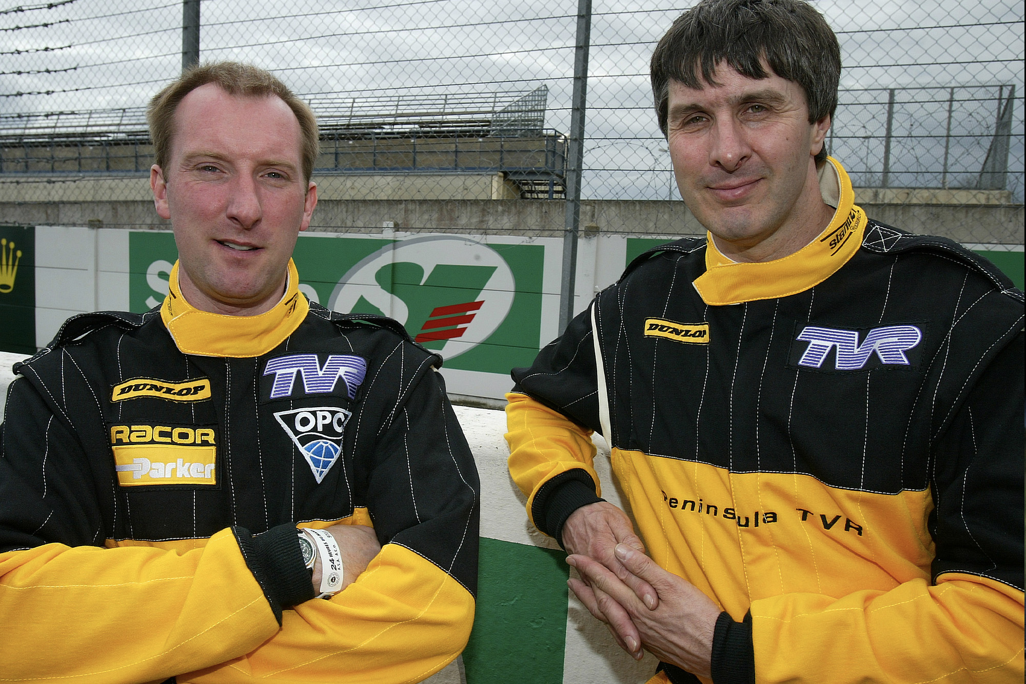 John Hartshorne and Piers Johnson at Le Mans in 2005