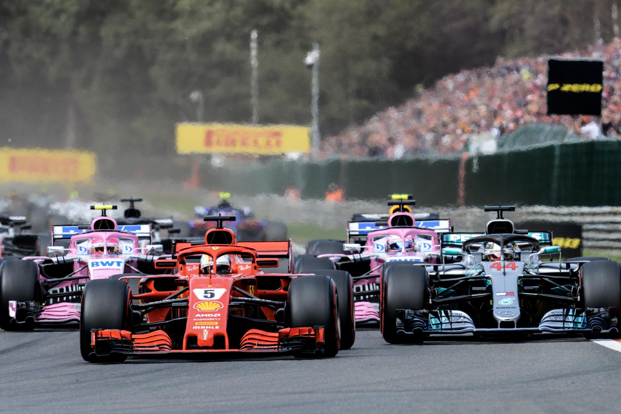 2019 Belgian Grand Prix start