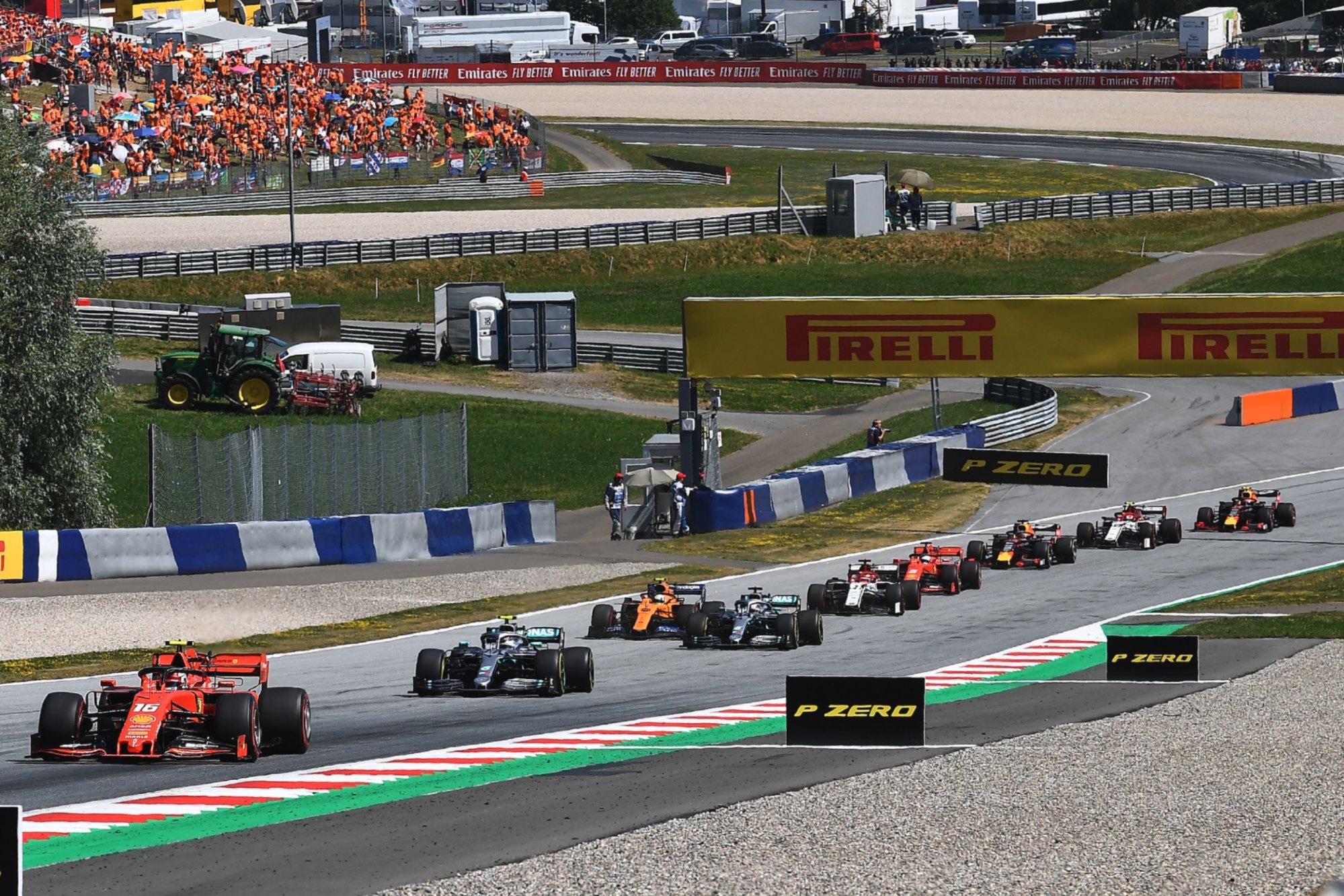 2019 Austrian GP start