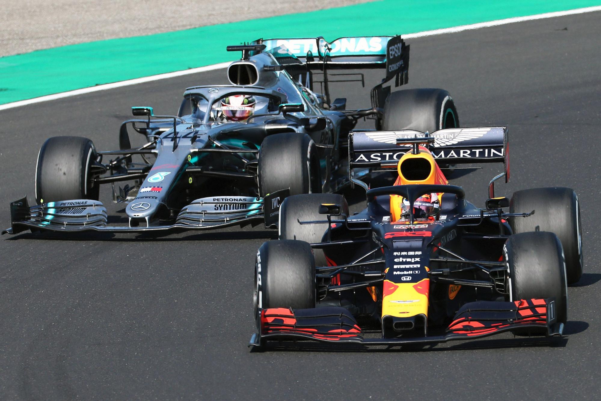 2019 Hungarian GP, Hamilton and Verstappen