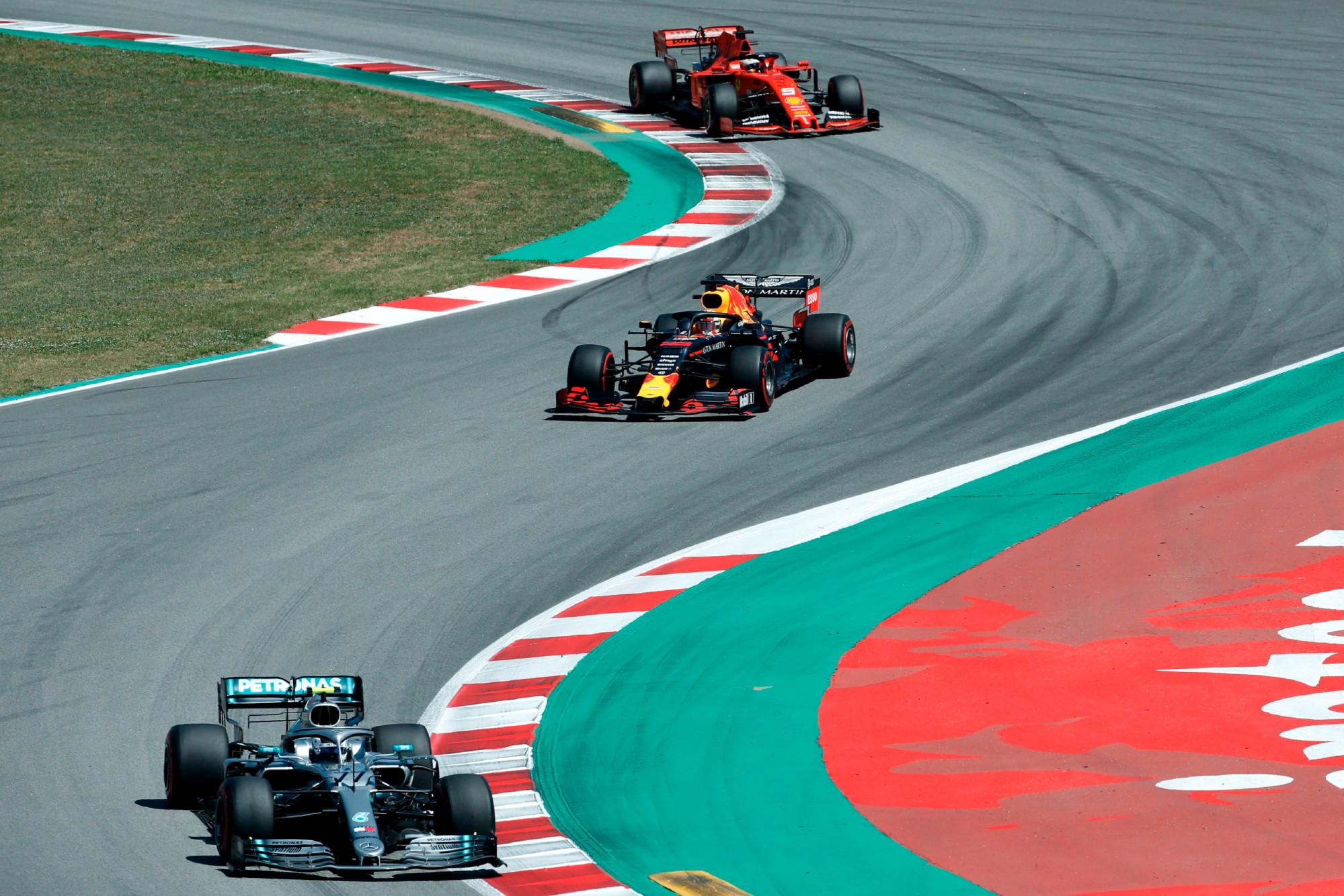 Bottas, Verstappen, Vettel, 2019 Spanish GP