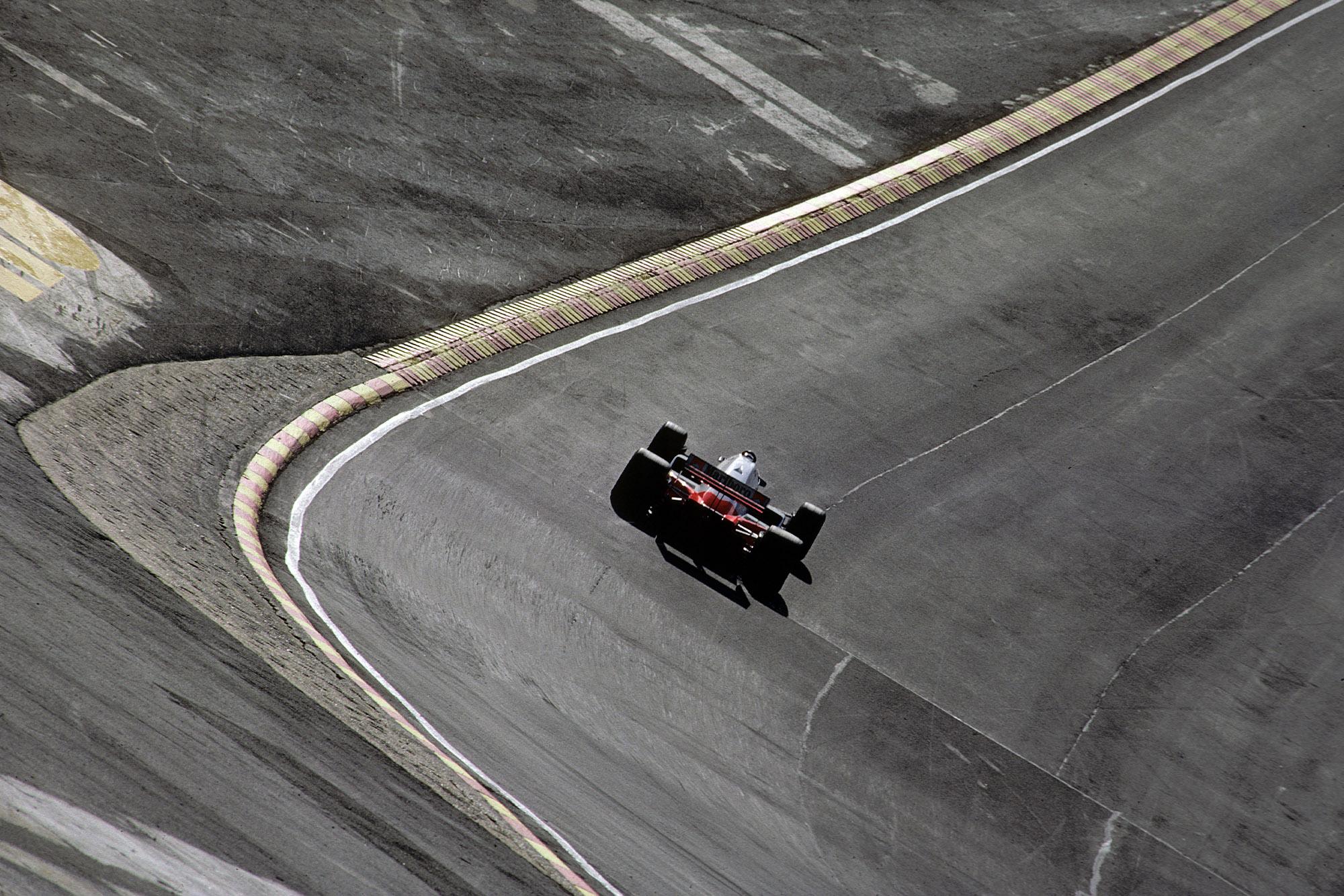 Alain Prost at Brands Hatch