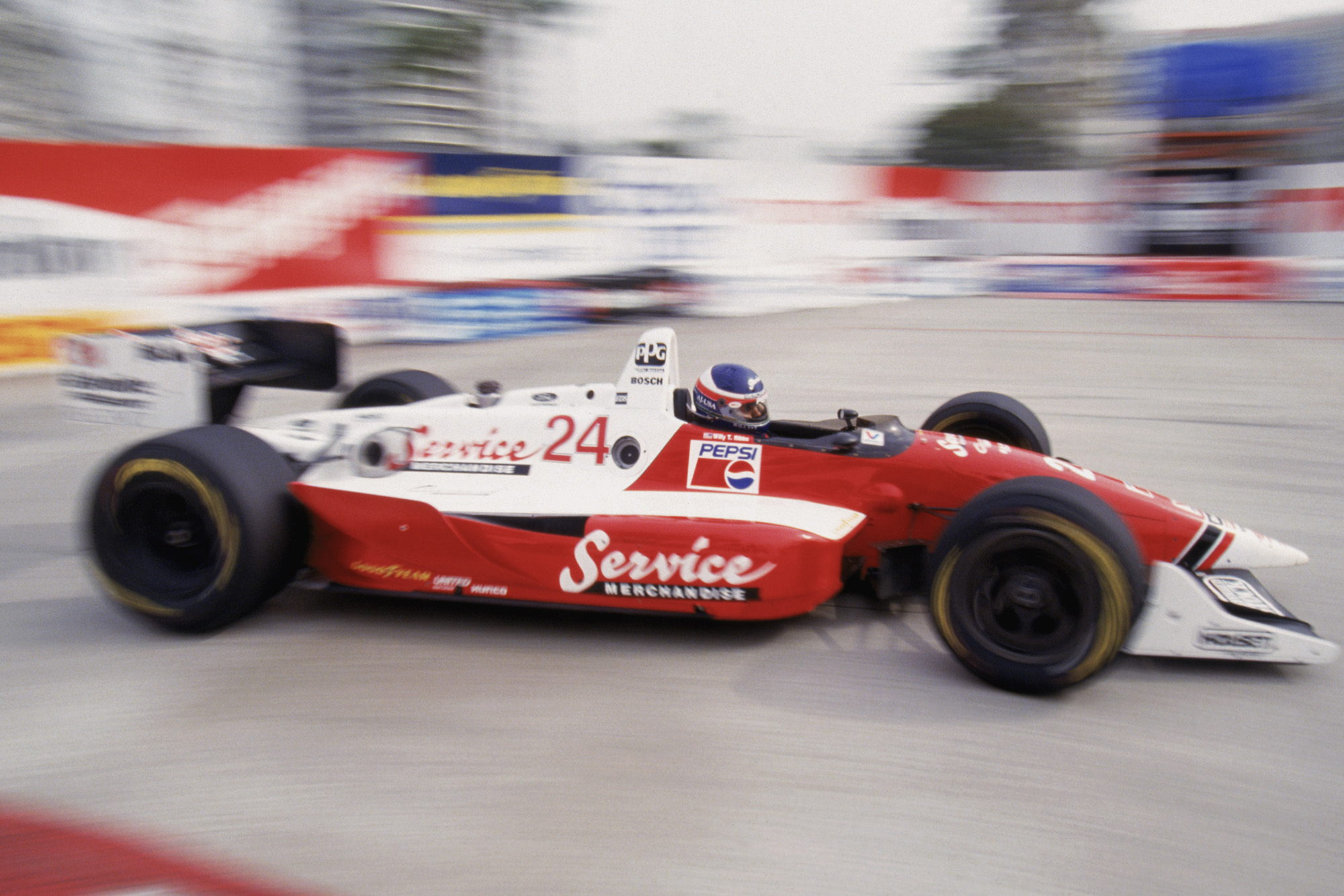 Willy T ribbs in the 1990 Long Beach Grand Prix