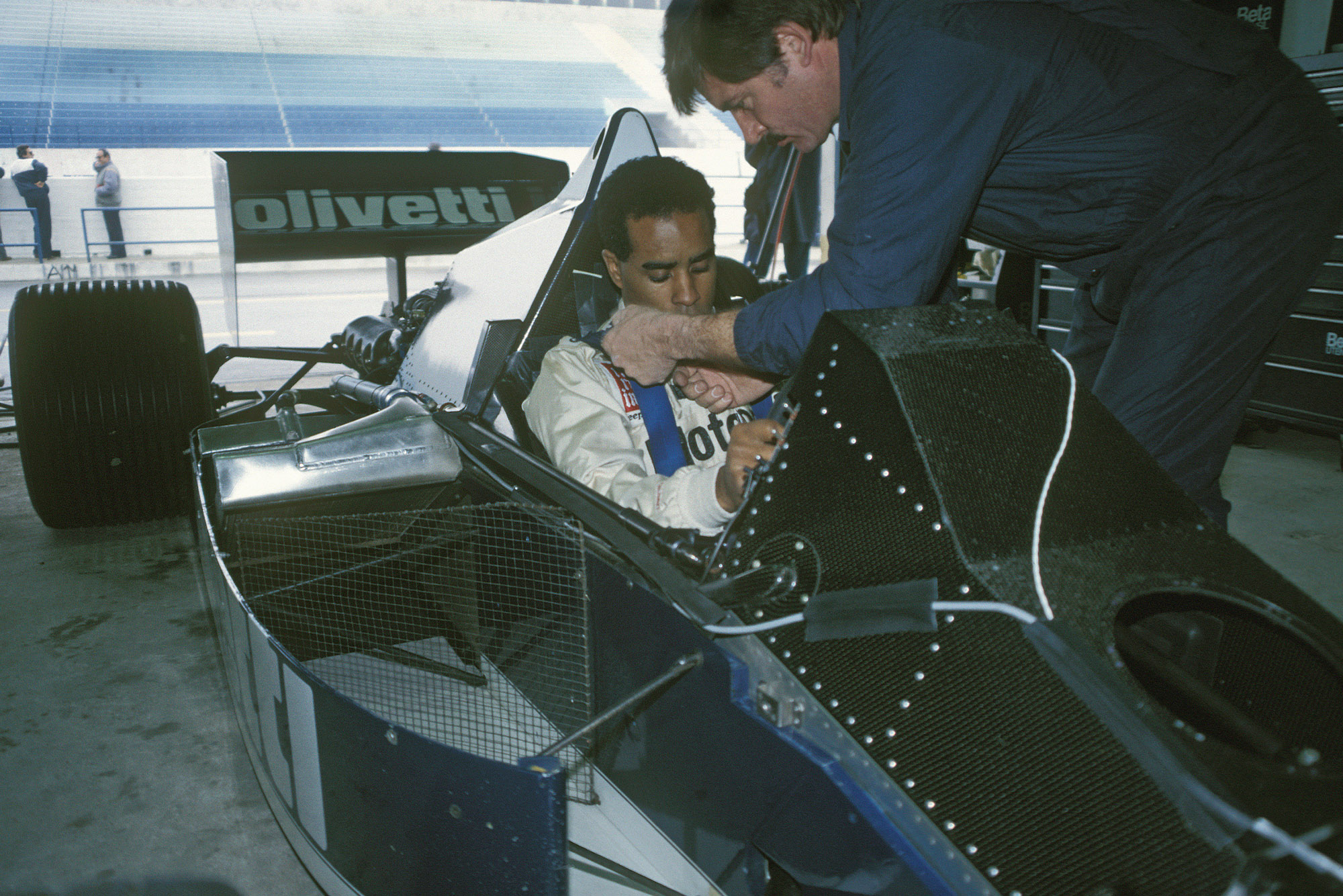 Willy T Ribbs testing for Brabham F1 at Estoril in 1986