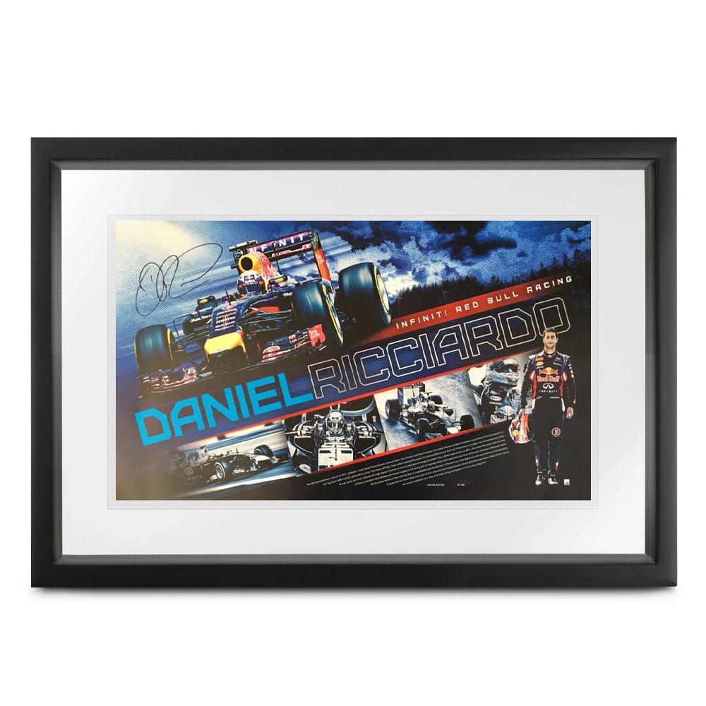 Product image for Daniel Ricciardo - Red Bull RB10 - 2014 | poster | signed Daniel Ricciardo