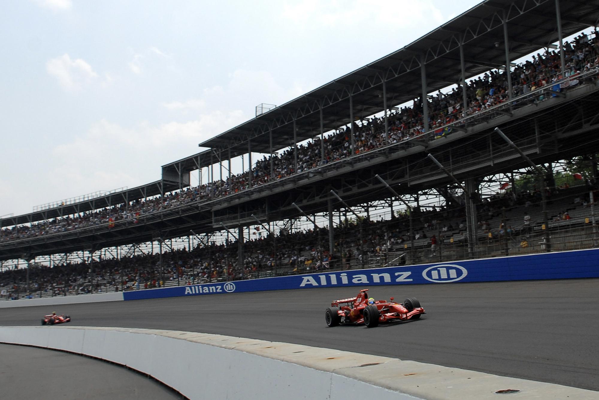 Kimi Raikkonen at Indianapolis in 2007