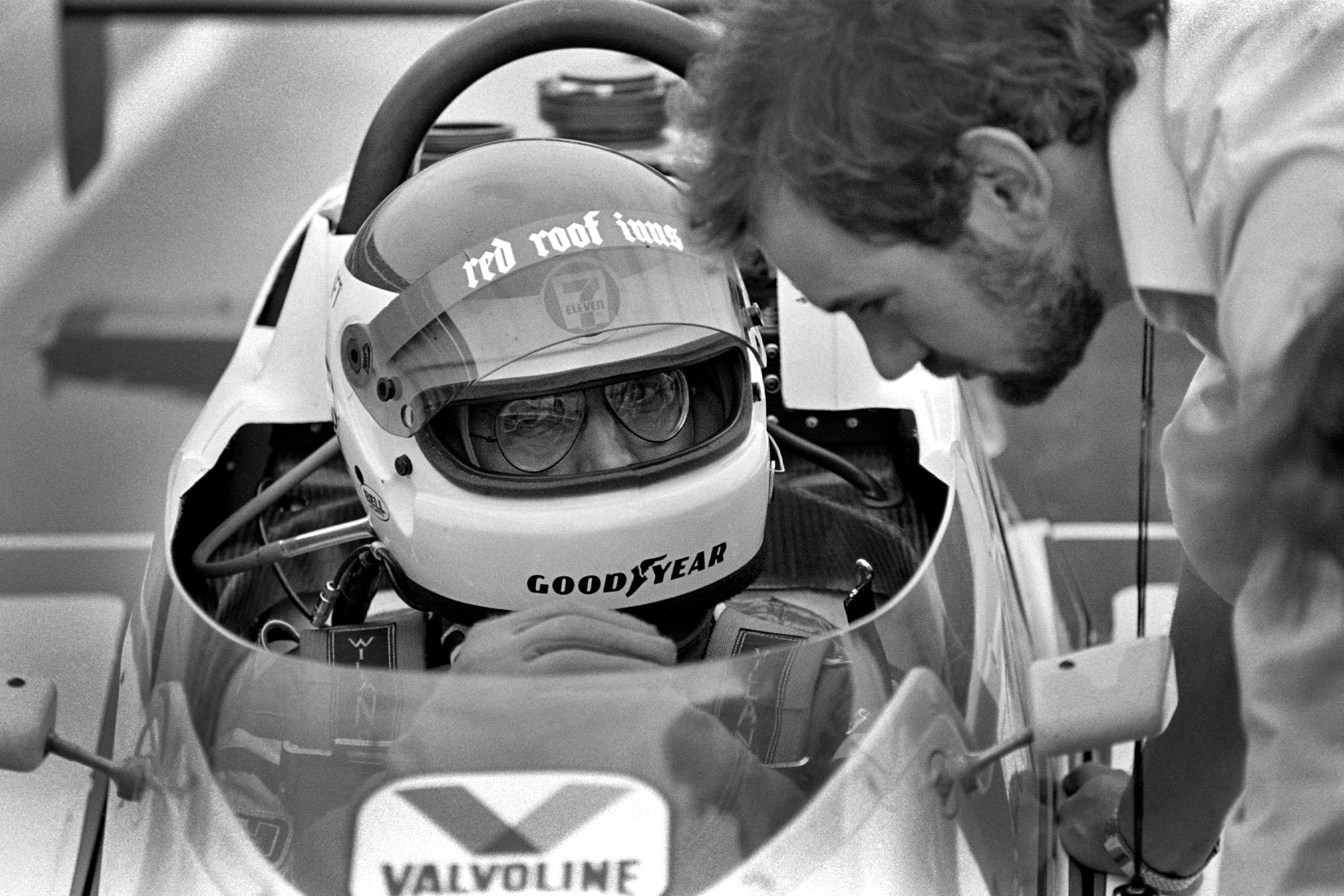 Adrian Newey with Bobby Rahal at the 1984 Indianapolis 500