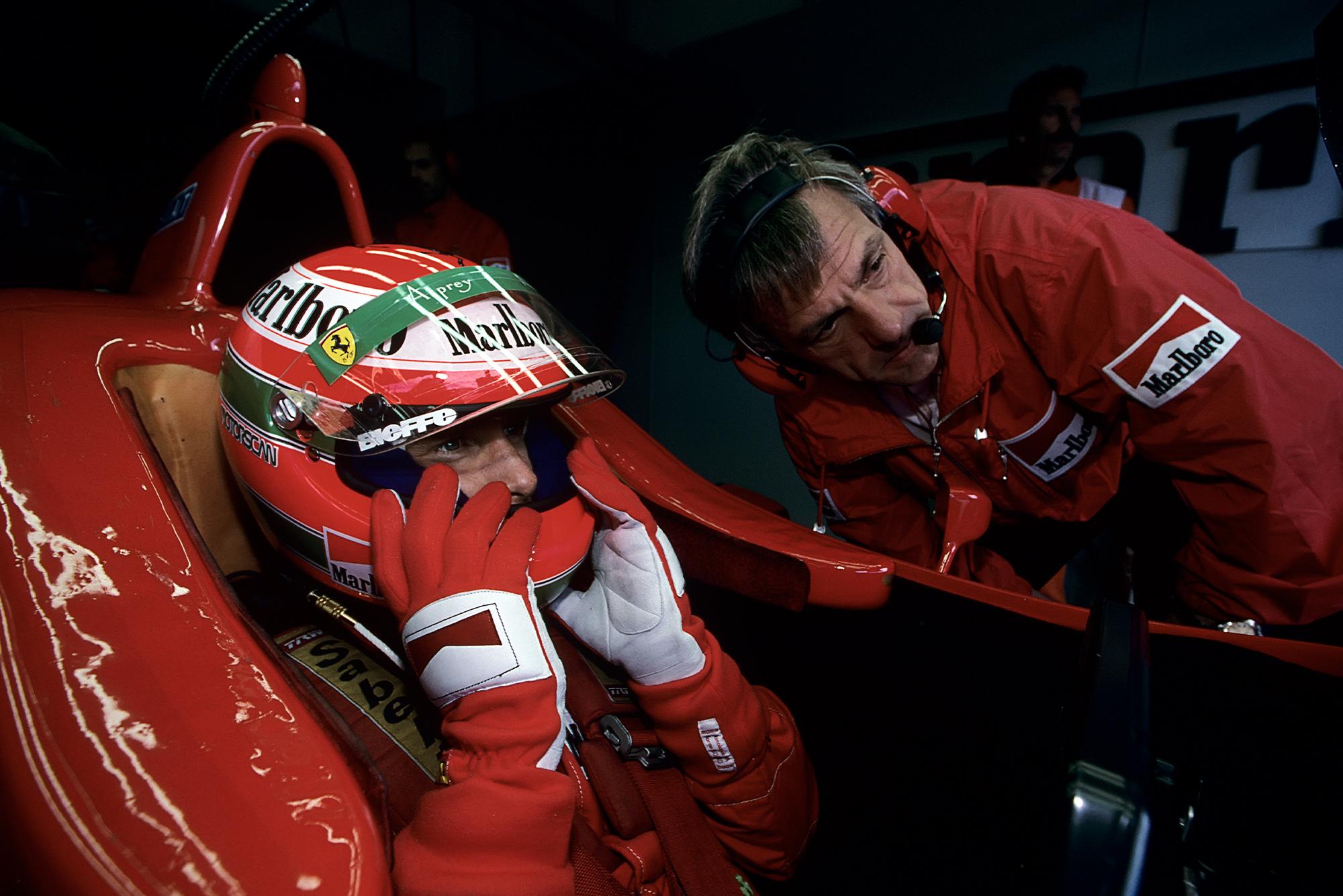 Gustav Brunner with Eddie Irvine