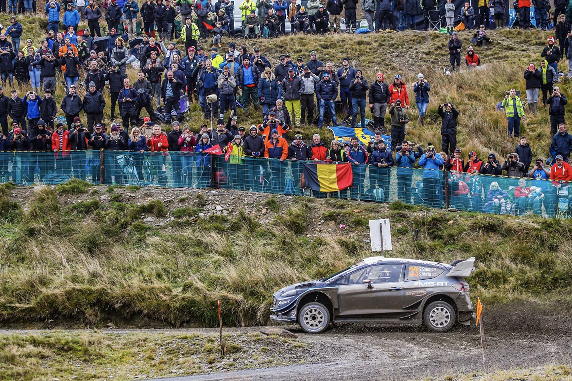 Elfyn Evans at Wales Rally GB 2019