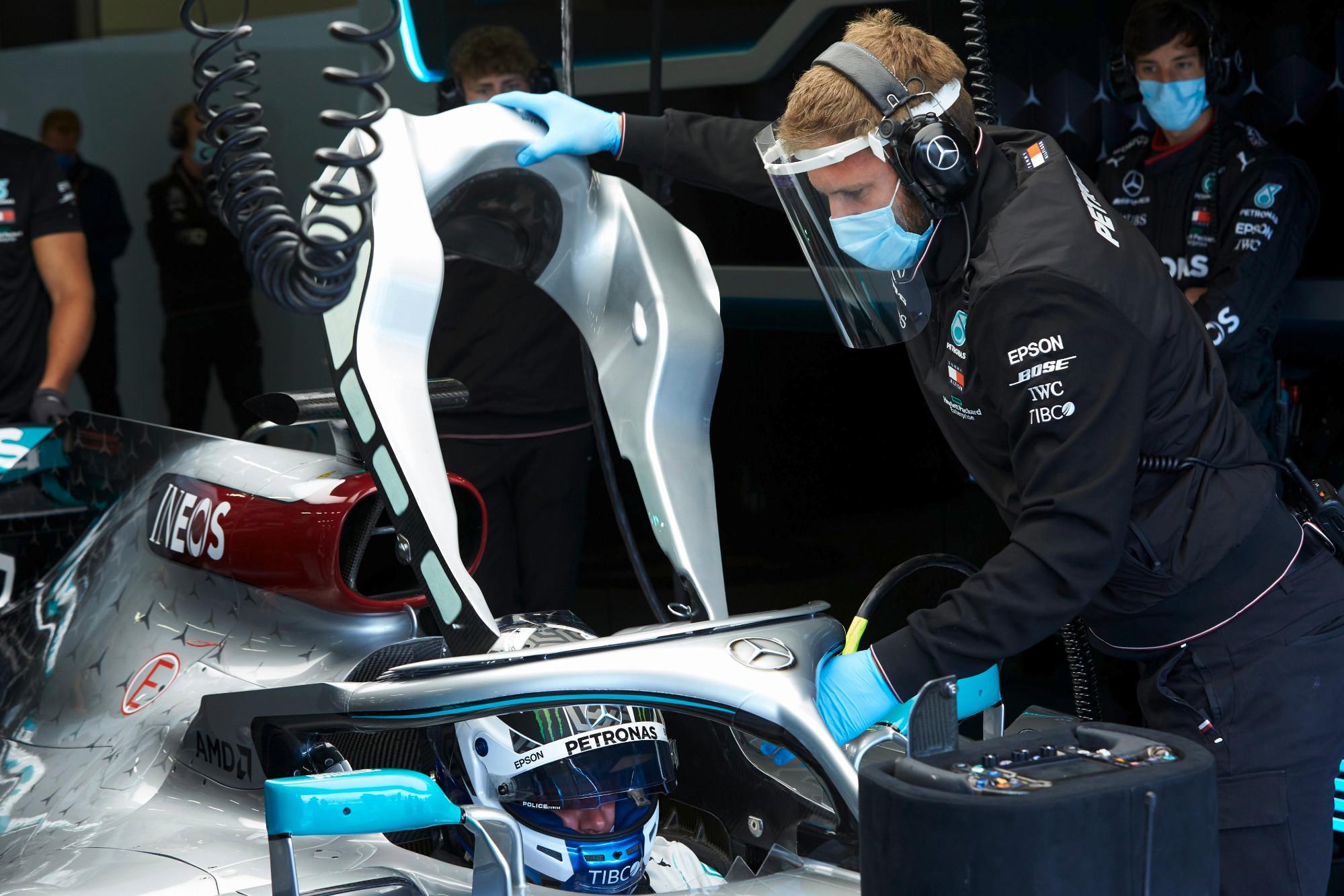 Valtteri Bottas testing, Silverstone 2020