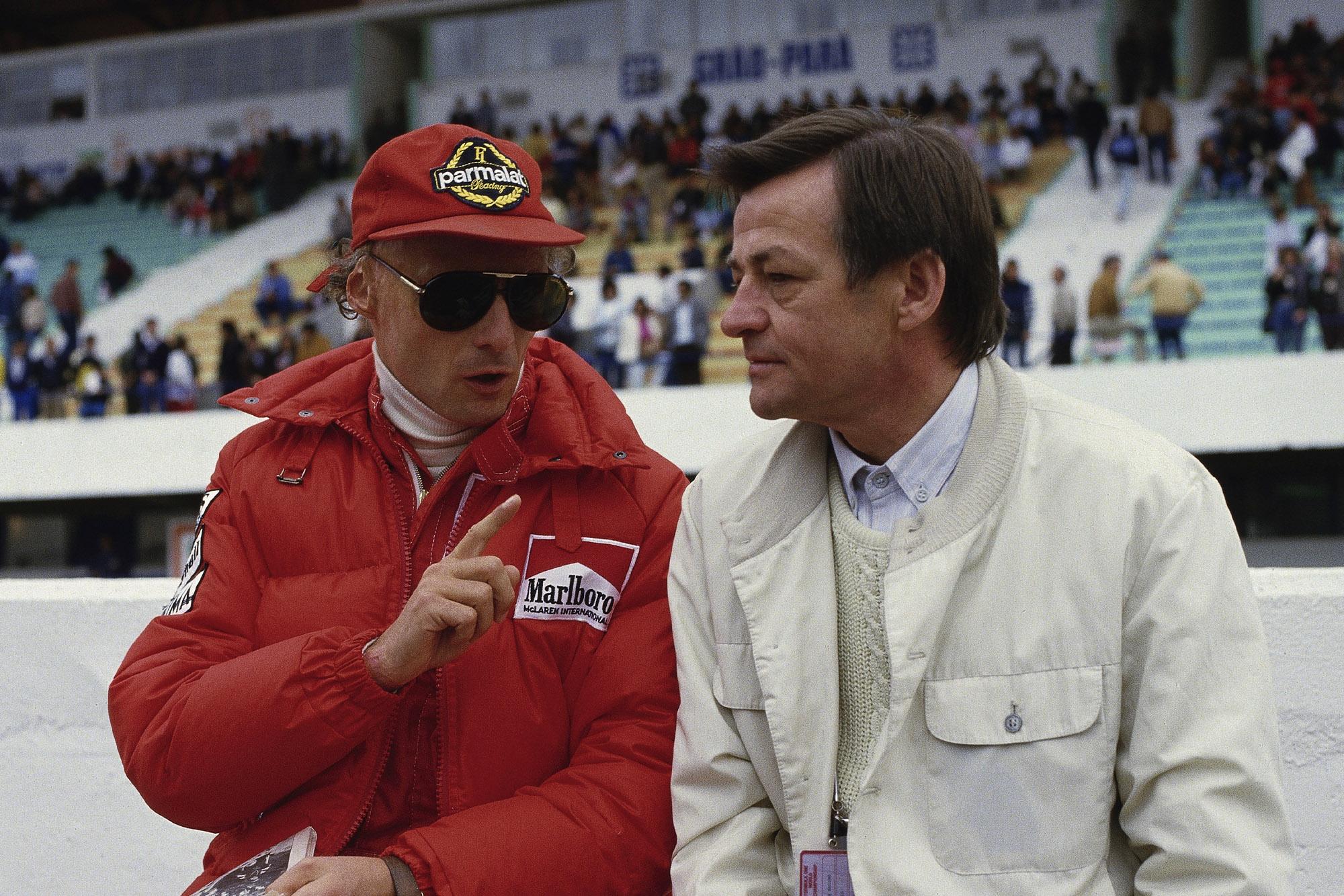 Hans Mezger with Niki Lauda in 1984