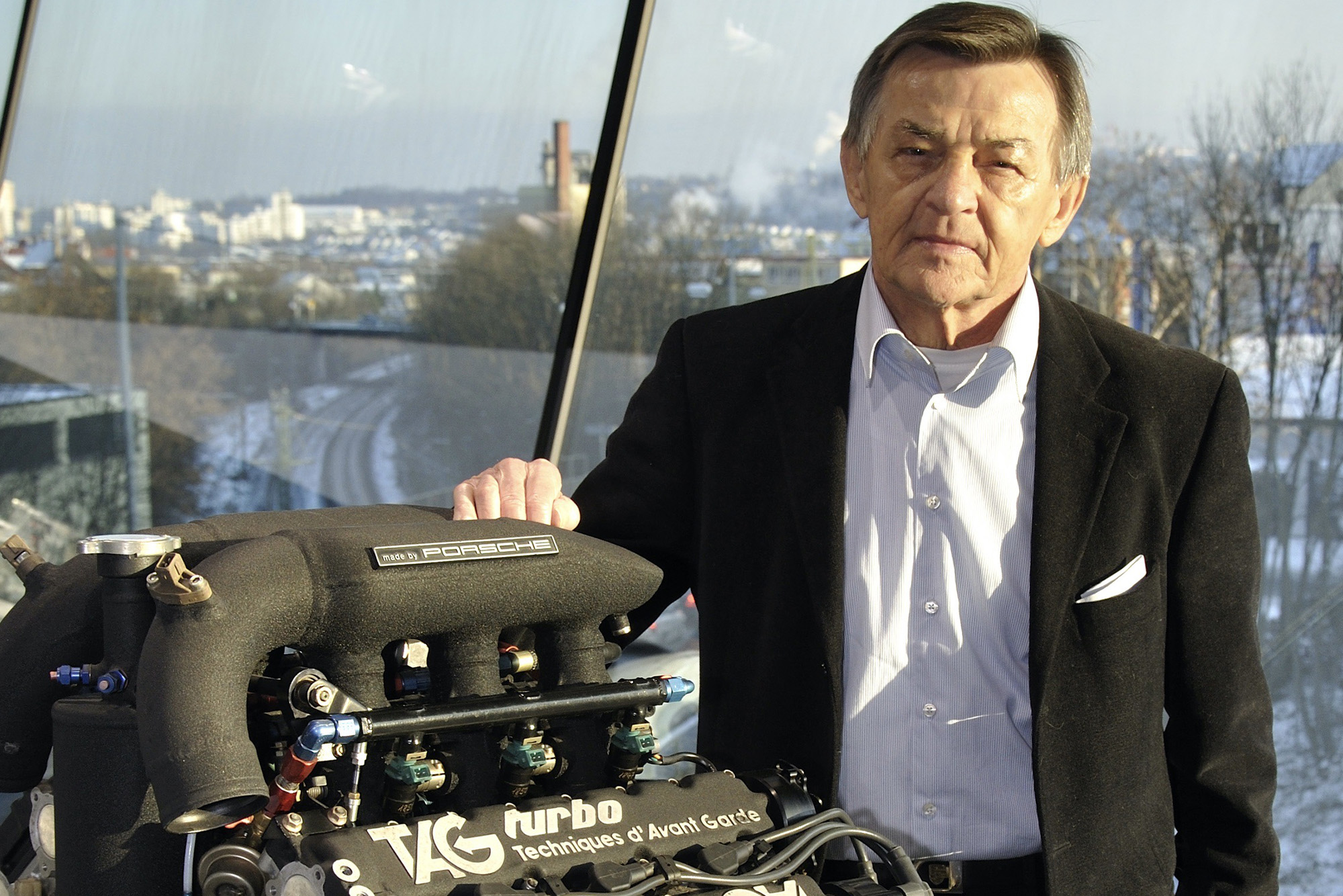Hans Mezger with TAG Turbo