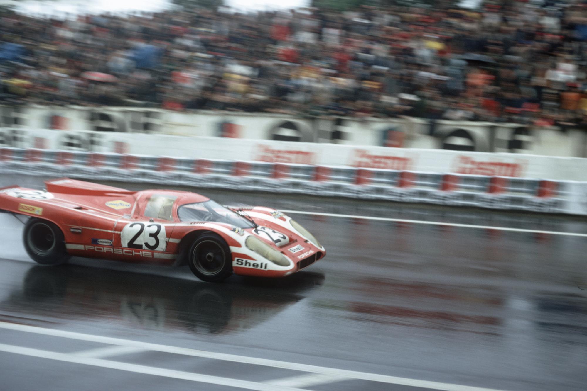 Attwood Herrmann Porsche 917 in the 1970 Le Mans 24 Hours