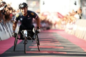 Alex Zanardi being brought out of medically-induced coma