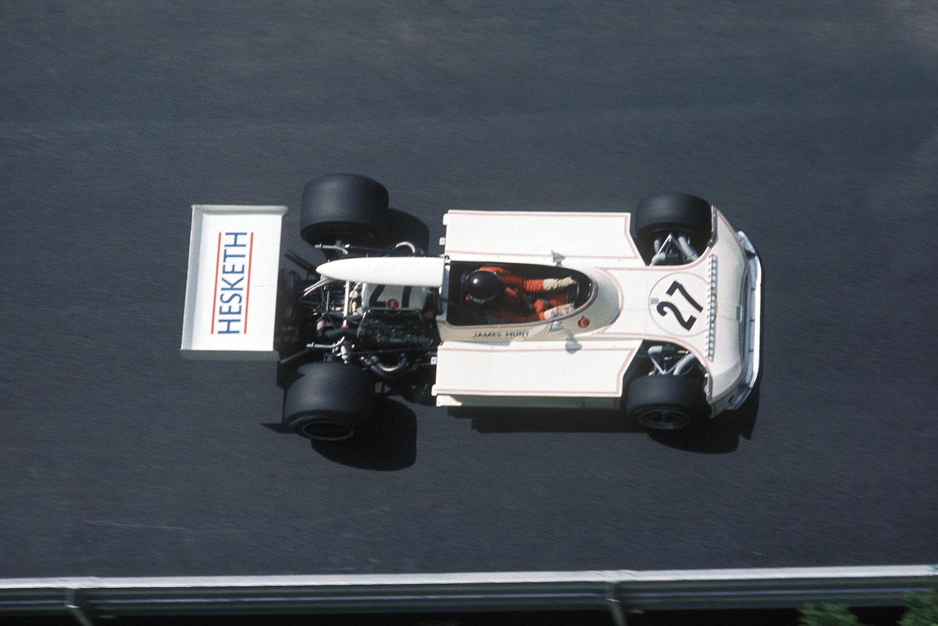 James Hunt at the 1973 Monaco Grand Prix