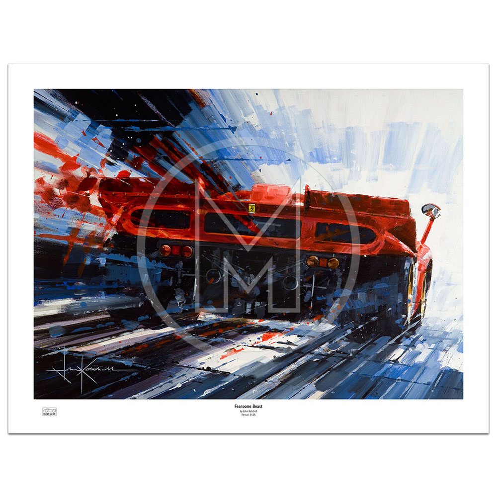 Product image for Fearsome Beast | Clay Regazzoni – Ferrari 512S – 1970 | John Ketchell | Limited Edition Print