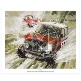 Product image for Mini Magic | Paddy Hopkirk – Mini Cooper S – 1964 | John Ketchell | Limited Edition Print