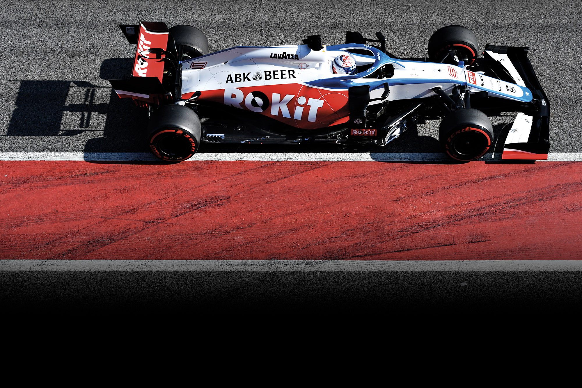 Nicholas Latifi drives the Williams FW43 at 2020 F1 preseason testing